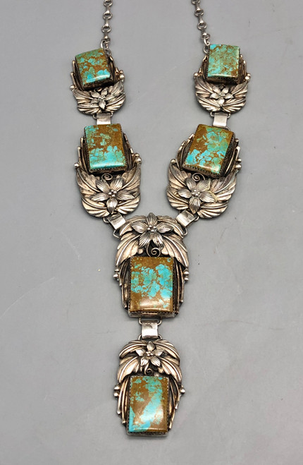 Exquisite Turquoise and Sterling Silver Necklace