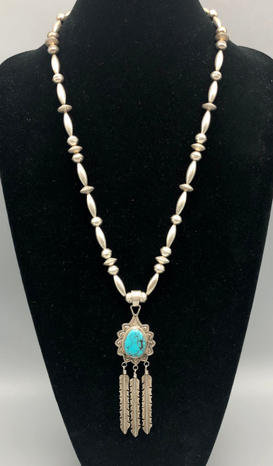 Great Curtis Pete Pendant on Sterling Silver  Beaded Necklace