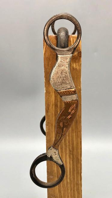 bit, Carl Hall, Silver, copper, lady leg design, low port