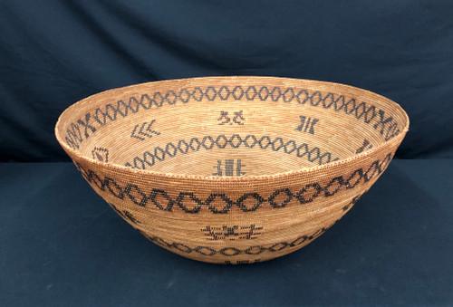 Yokuts polychrome feast basket