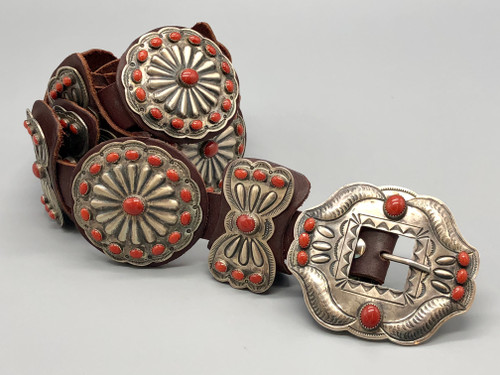 Outstanding Contemporary  Coral Concho Belt