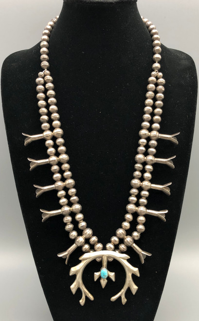 1960s-1970s sterlingsilver squash blossom necklace