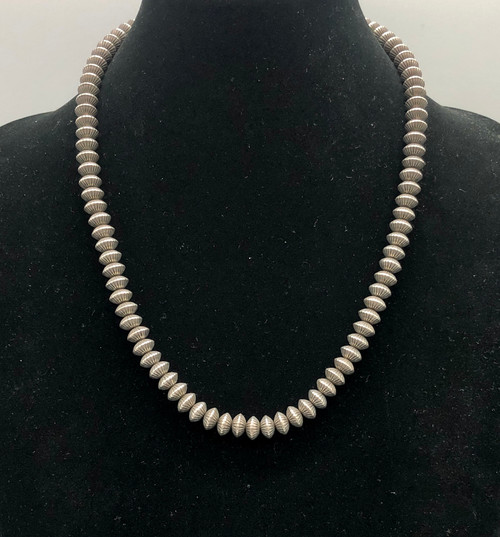 Fabulous Fluted Bead Navajo Pearl Necklace