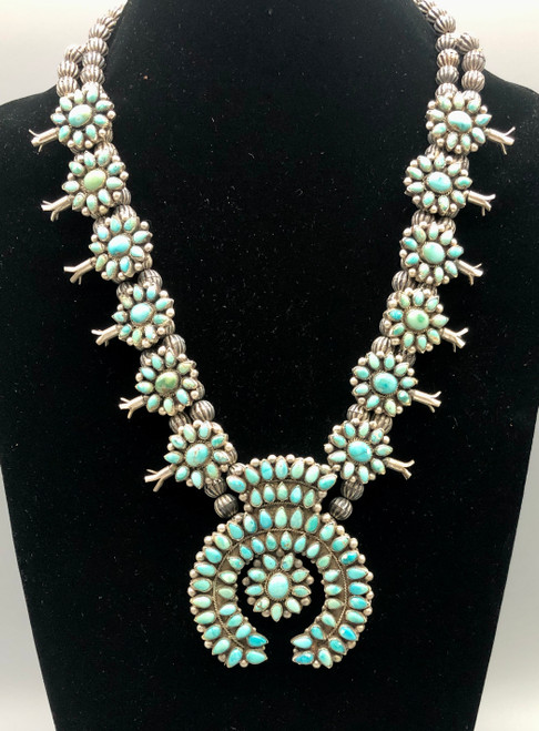 Outstanding Cluster Squash Blossom Necklace