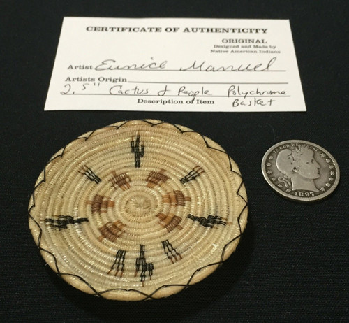 basket with certificate and coin