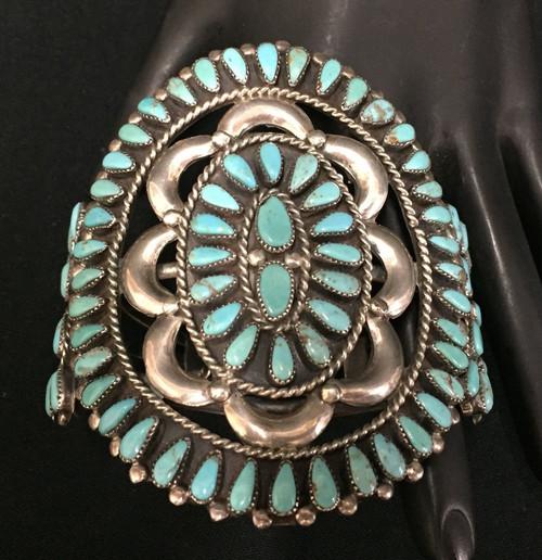 cluster turquoise bracelet