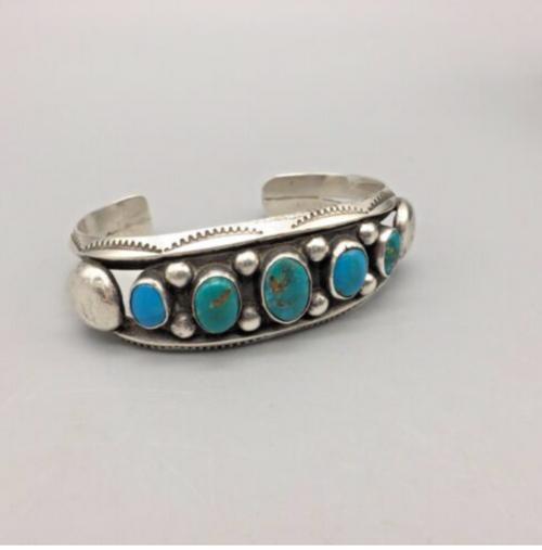 5-stone turquoise cuff bracelet