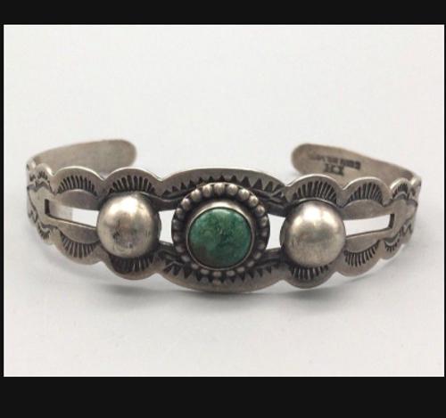 Fred Harvey Era turquoise cuff bracelet