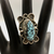 ring, Nick Jackson, NJ, sterling silver, spiderweb turquoise, Native American, Navajo, new