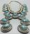 Stunning! STATEMENT Piece! Nice Turquoise Squash Blossom by William T. Johnson