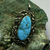 Lee and Mary Weebothee turquoise pendant