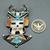Antelope man pendant, pin