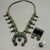 A Vintage Green Turquoise Squash Blossom Necklace Set You Will Look Great In