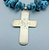 High grade turquoise and cross necklace