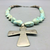 Dry Creek turquoise cross necklace from 1800s