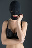 MASK WITH 3 HOLES GP THREE HOLED HOOD BLACK