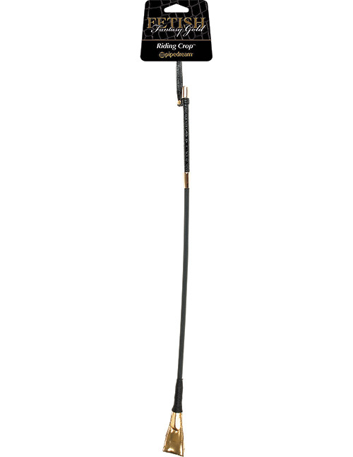 FF GOLD RIDING CROP BLACK