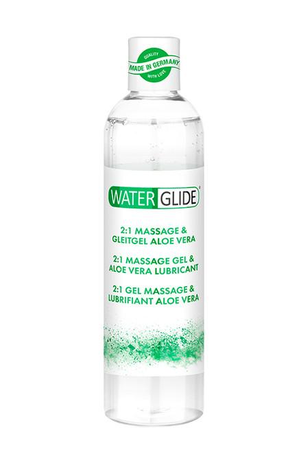 Waterglide 2-in-1 Massage Gel & Lube, with nourishing aloe vera extract, 300 ml