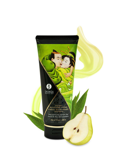 SHUNGA 200 ml Pear and Exotic Green Tea Kissable Massage Cream