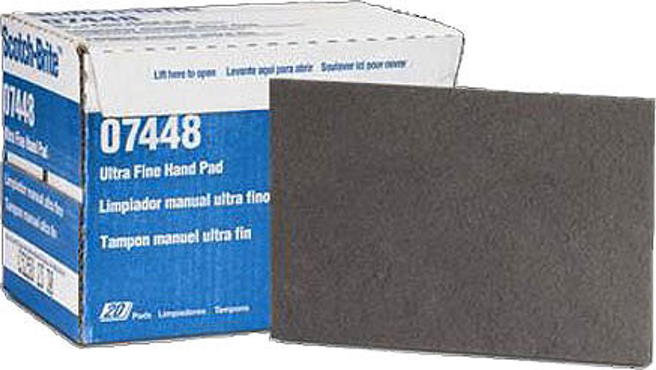 3M 7448 Scotch-Brite 6-by-9-Inch Ultra-Fine Hand Pads
