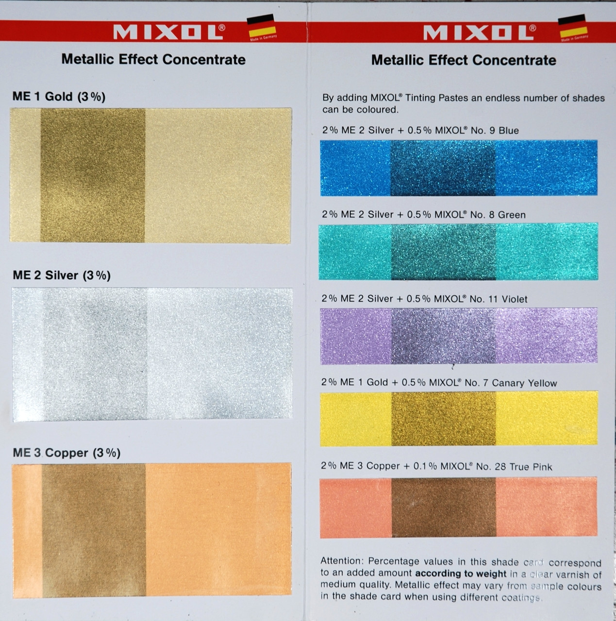 MIXOL Colorant Metallic
