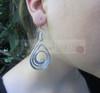 aluminum spiral teardrop earrings
