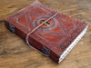 OLD WORLD Leather Journal - Embossed - side view