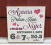 Baby Birth Newborn Stats Sign
