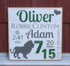 baby boy birth announcement sign - wall plaque - handcrafted