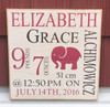 Baby Girl Announcement Sign for Nursery
