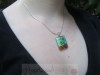 Model with Momo Glassworks Ovenbirds Glass Pendant