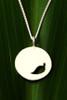 Filou Designs Sterling Silver Falling Leaf Medallion Cutout Necklace