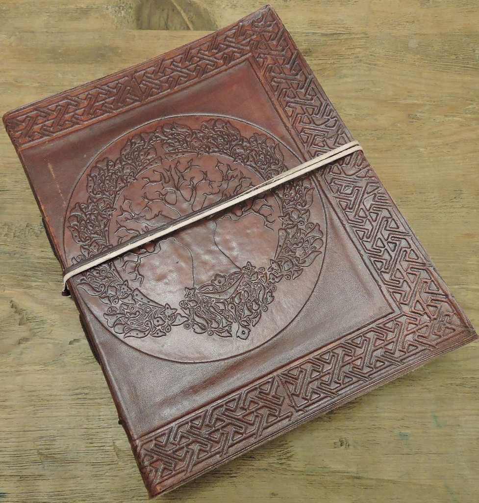 Tree of Life Celtic Old World Leather Journal