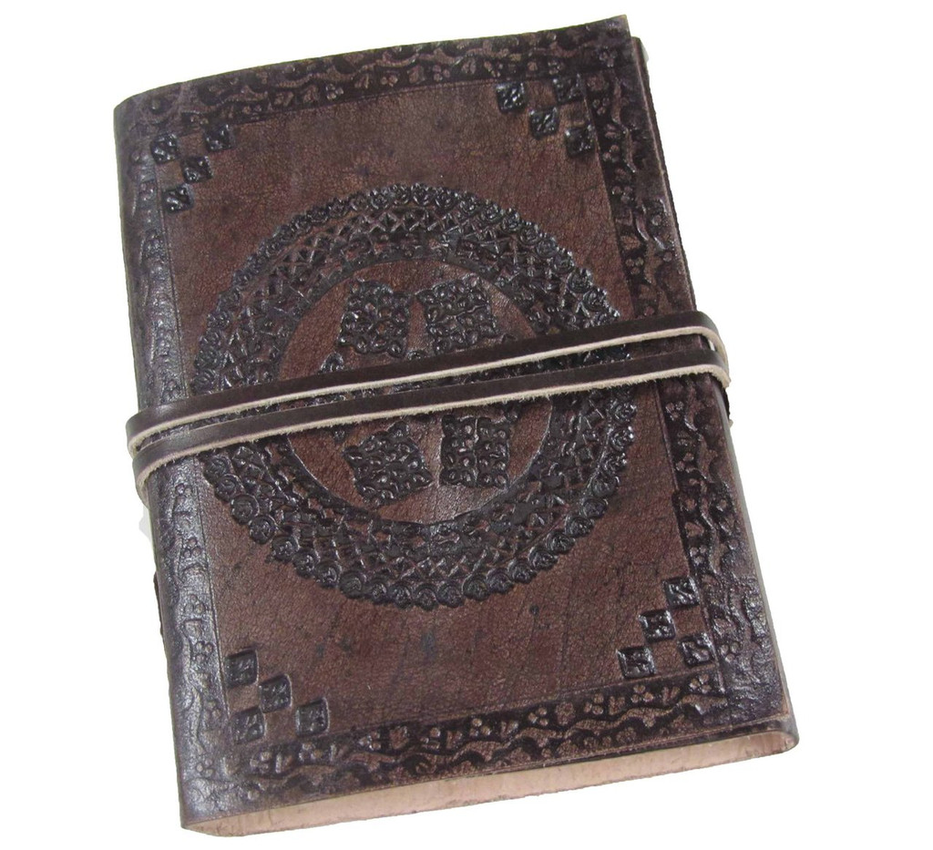 Leather Journal - Small Tooled B | HEARTWOOD COLLECTION