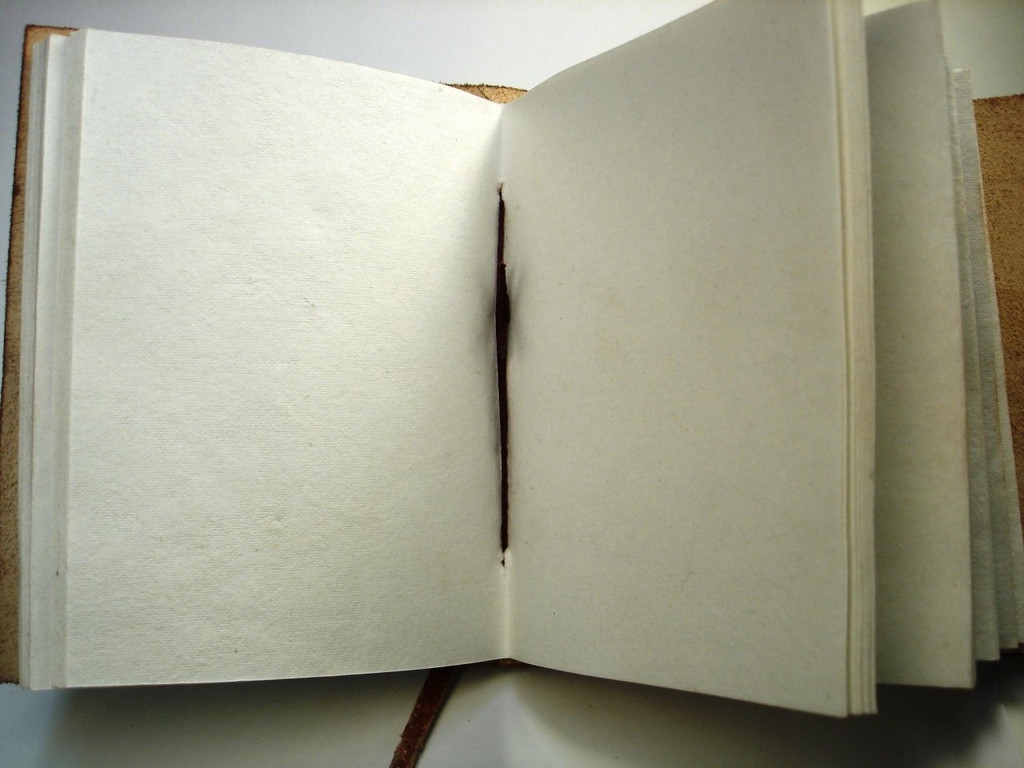 cotton paper inside journal