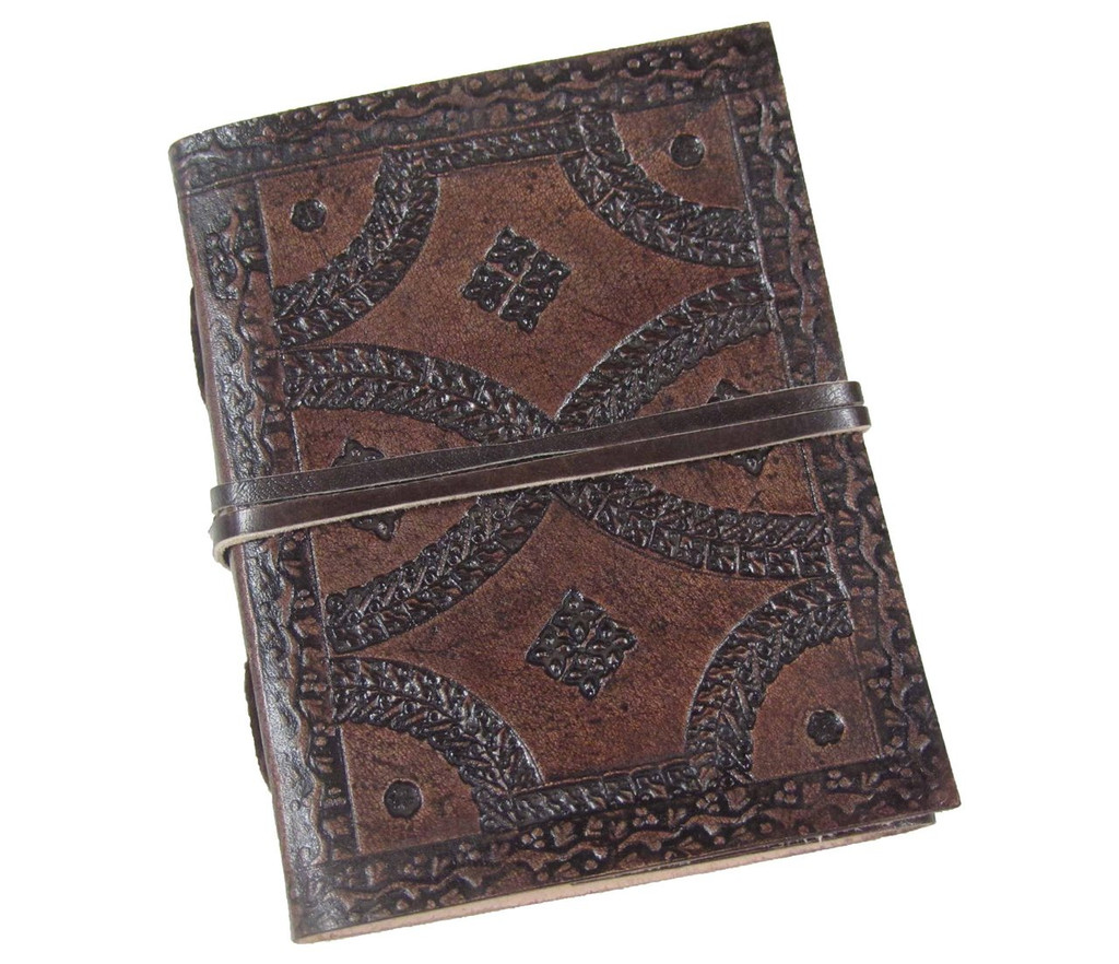 Heartwood small tooled leather journal