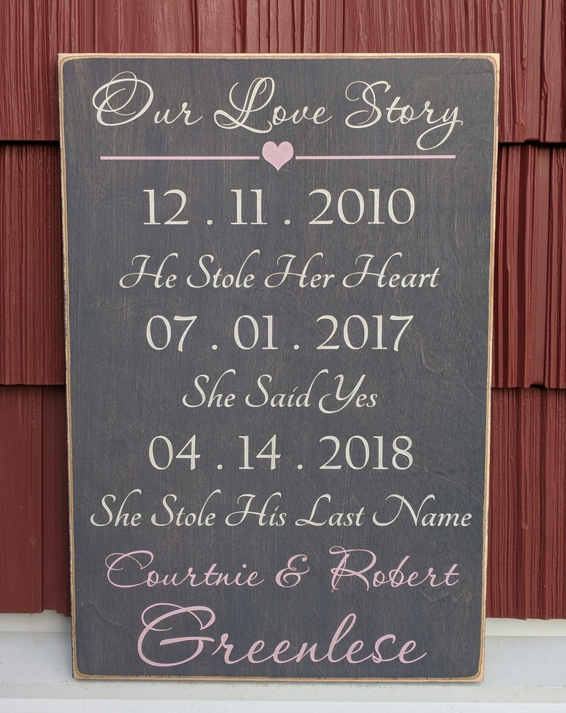 Our Love Story Wood Sign
