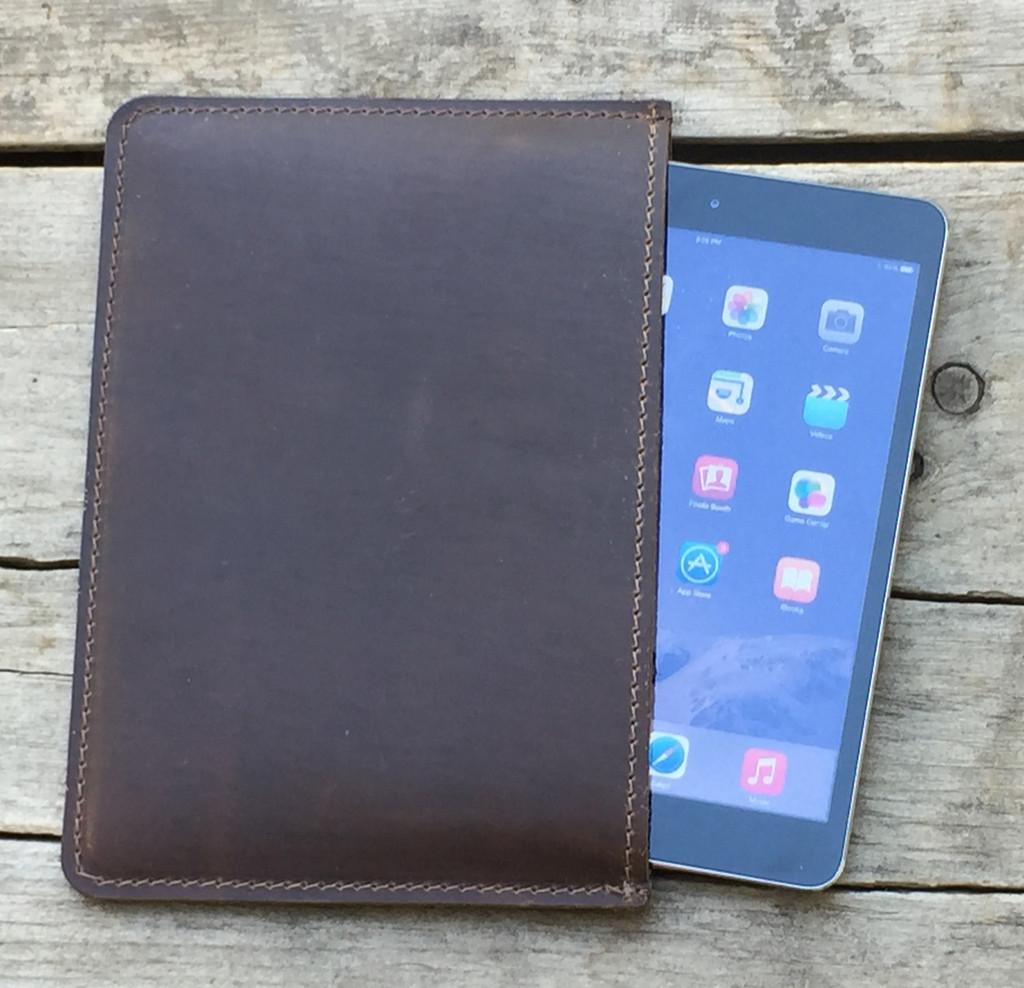 Rustico mini tablet leather sleeve