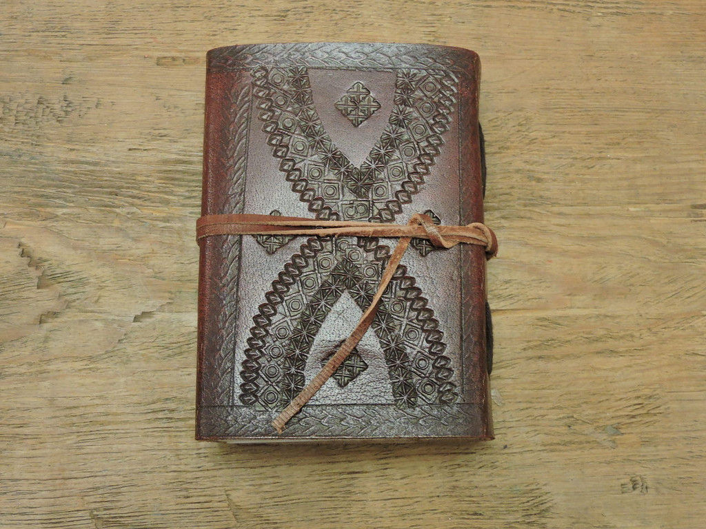 xtra small hand crafted leather journal