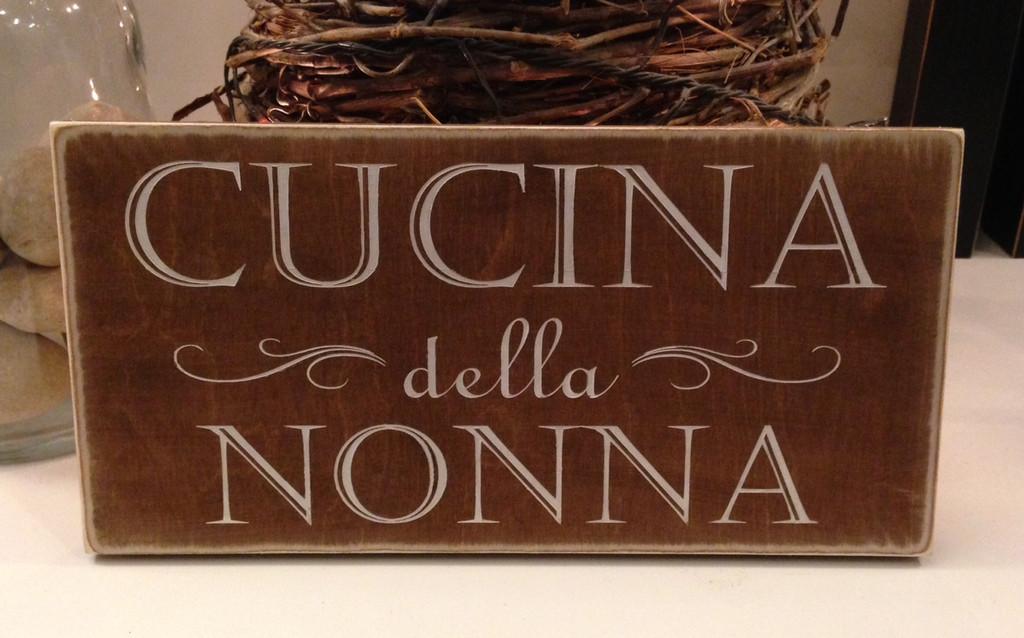 Cucina Custom Sign