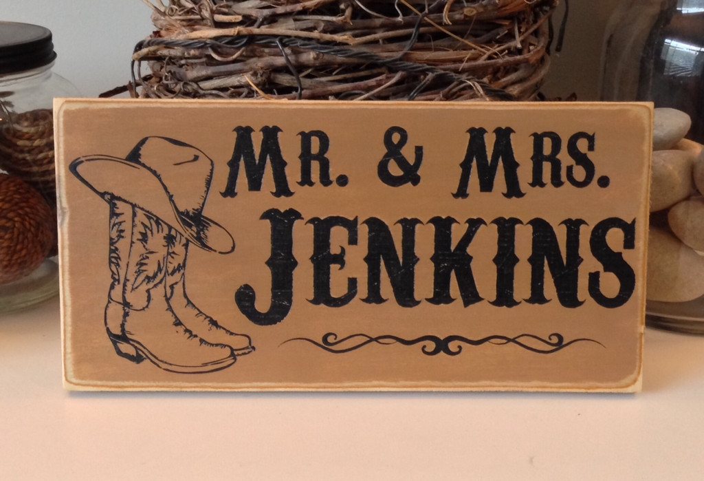 Western Family Sign