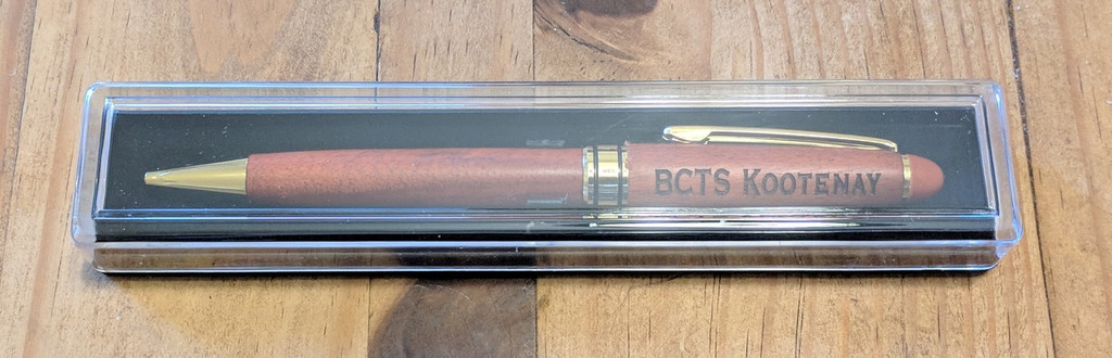 rosewood pen personalized with case