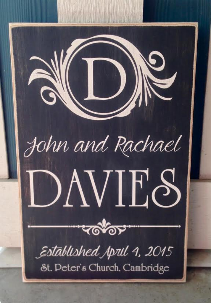 Family Name Wall Plaque - Wall Sign