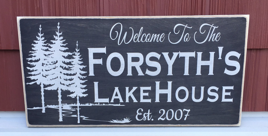 Lake House Sign