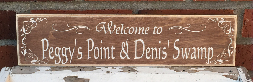 custom cabin name sign