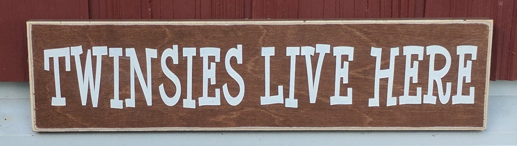 twinsies live here sign