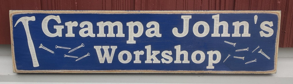 workshop sign