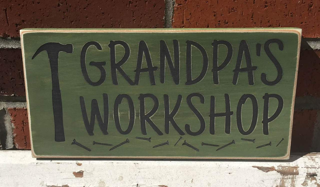 Grandpa's Workshop Sign