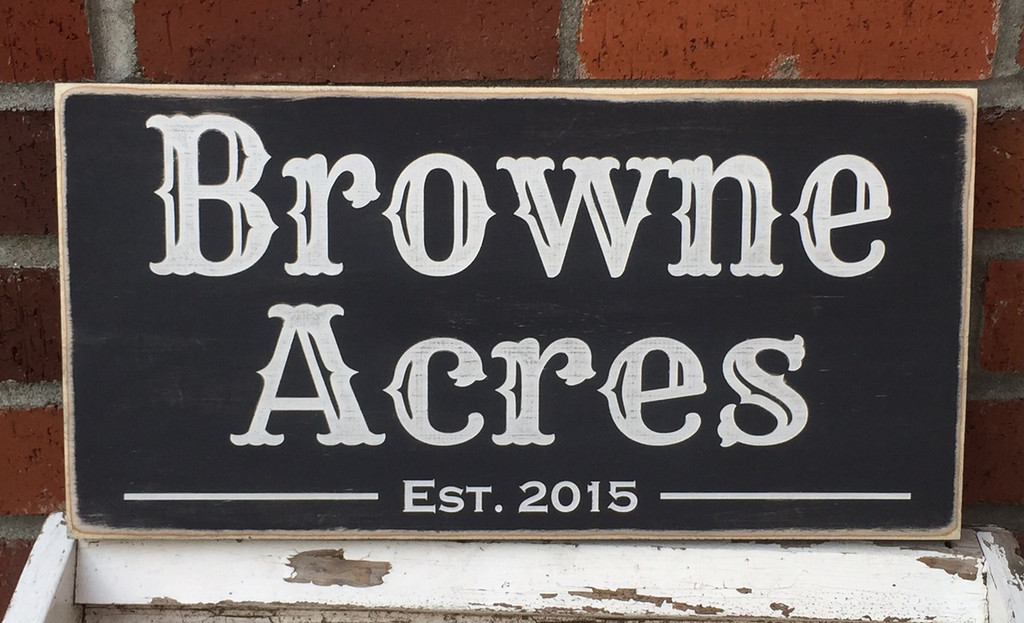 Custom Farm Wood Sign