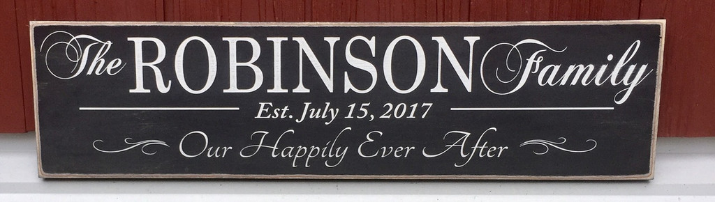 Our Happily Ever After Family Establishment Sign